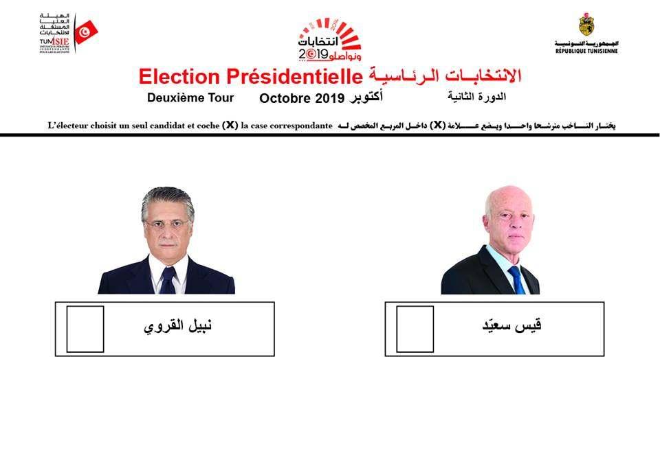 إنطلقت اليوم الحملة الإنتخابية للدور الثاني من الإنتخابات الرئاسية السابقة لأوانها، والتي يتنافس فيها كل من المترشح المستقل قيس سعيد والمترشح عن حزب قلب تونس نبيل القروي، وتنتهي الحملة يوم الجمعة 11 أكتوبر